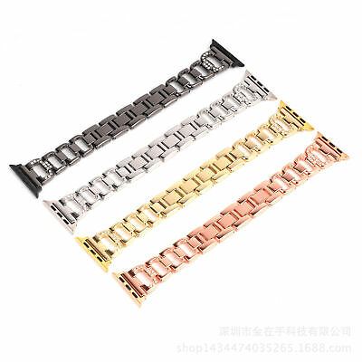 AU19.99 • Buy Lady's Stainless Bling Diamond IWatch Band Strap Apple Watch Series 5 4 3 2 1