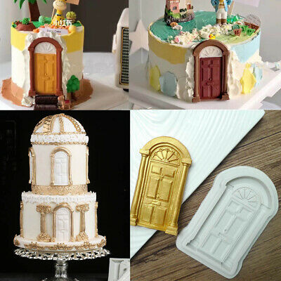 3D Fairy House Door Silicone Fondant Mould Cake Decorating Chocolate Mold Xmas • 3.25£