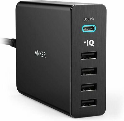 AU105.55 • Buy Anker USB Type-C, 5-Port 60W USB Wall Charger Powerport+ 5 USB-C With Power Deli
