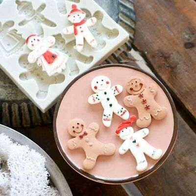 Silicone Christmas Gingerbread Man Mold Cake Fondant Decorating Chocolate Mould • 2.95£