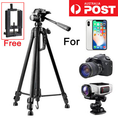 AU36.99 • Buy Universal Telescopic Camera Tripod Stand Holder Mount For Phone IPhone Samsung