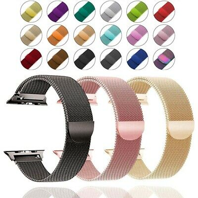 $ CDN5.99 • Buy For Apple Watch Series 6 5 4 3 2 Milanese Loop Stainless Steel Strap IWatch Band