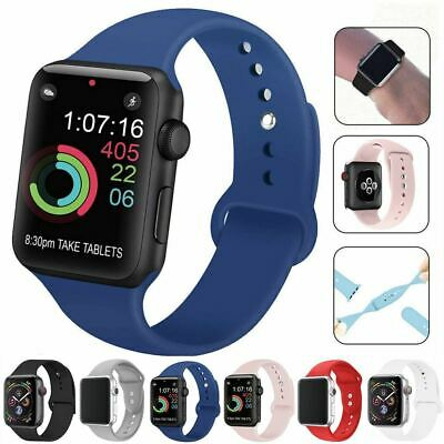 AU3.69 • Buy Strap For Apple Watch Silicone Comfortable Durable Waterproof Band