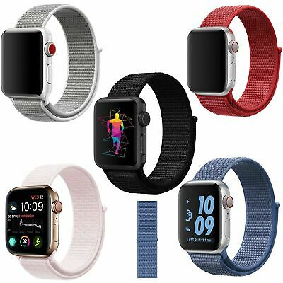 AU3.99 • Buy Band Strap For Apple Watch Adjustable Waterproof Braided Nylon Material