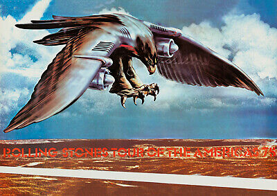 £20.95 • Buy ROLLING STONES - Tour Of The Americas (1975) Music Concert Poster Art