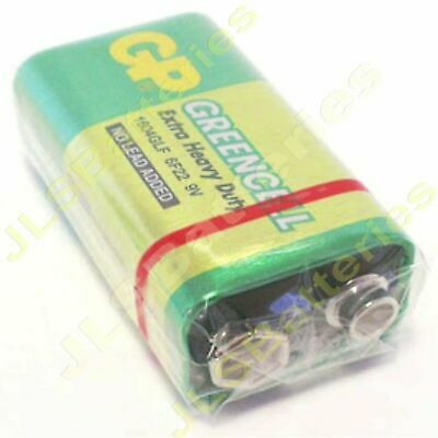 2 X GP GreenCell 9V Batteries MN1604 6LR61 PP3 BLOCK 6F22 EXTRA HEAVY DUTY • 1.85£