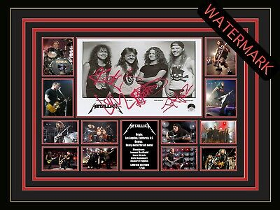 AU94.99 • Buy Metallica Limited Edition Signed & Framed Memorabilia -s&m2 Tour-james Hetfield