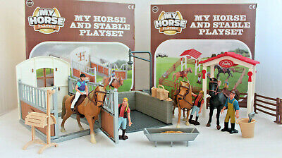 Horse Stable Play Set Toy Horse Accessories Kids Children Toy  • 20.49£