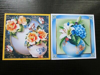 £1.25 • Buy  2 X FLORAL VASE OF FLOWERS Card Making Toppers & Sentiments