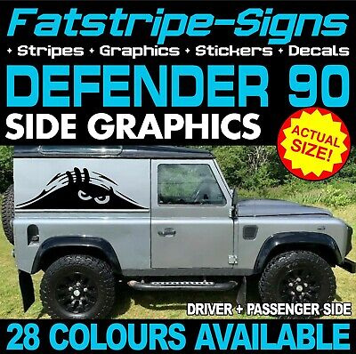 LAND ROVER DEFENDER 90 PEEKING MONSTER STICKERS GRAPHICS DECALS 4x4 OFF ROAD • 29.99£
