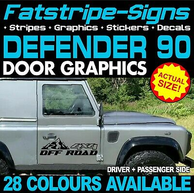 LAND ROVER DEFENDER 90 4x4 OFF ROAD MOUNTAINS STICKERS GRAPHICS DECALS • 19.99£