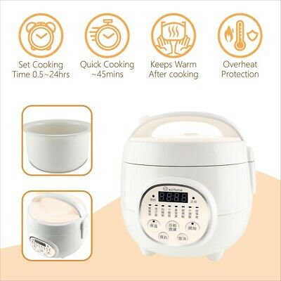 AU45.51 • Buy EcHome 0.8L Mini Rice Cooker Non Stick Electric 300W Warm Congee Soup For 1 To 3