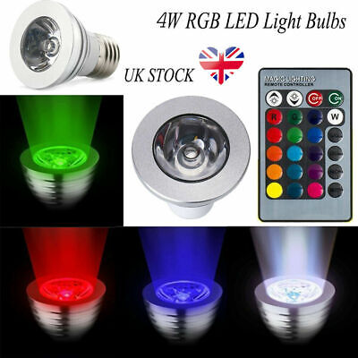 12x GU10 4W 16 Color Changing RGB Dimmable LED Light Bulbs Lamp Remote Spot • 4.99£