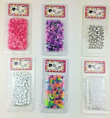 $5.99 • Buy TARA Plastic Hair Beads Braid Pony Ball NEW SEALED 10 Colors Lot PICK YOUR