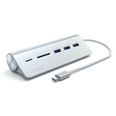 AU65 • Buy Satechi USB-C Aluminium USB 3.0 Hub & Card Reader For Laptop/PC/MacBook Silver