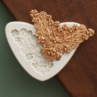 Relief Baroque Lace Silicone Fondant Mould Vintage Cake Border Decorating Mold • 2.85£