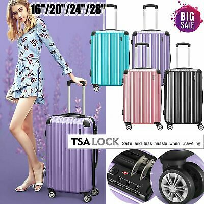 Hard Shell Cabin Suitcase Trolley Case 4 Wheel Luggage Spinner Ultra Lightweight • 18.99£