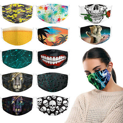 £1.99 • Buy Unisex Face Mask Design Reusable Washable Breathable Covering Mouth Nose UK