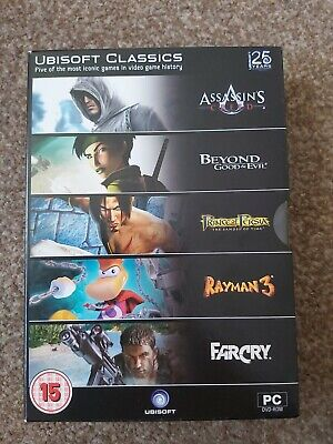AU8.90 • Buy 25 YEARS OF UBISOFT - 5 PC GAMES Inc ASSASSIN'S CREED, FAR CRY, RAYMAN 3 Etc