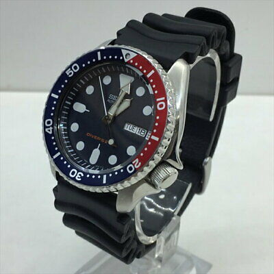 $ CDN409.37 • Buy Auth Seiko Watch Divers Skx009 7s26-0020 Case 42mm Blue Red Silver F/s