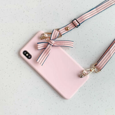 AU7.15 • Buy Crossbody Hot Simple Bow Fashion Women Girl Silicon Case Cover For Various Phone