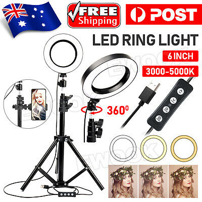 AU28.95 • Buy 6  Selfie LED Ring Light With Tripod Stand For Phone Live Stream Makeup Desktop
