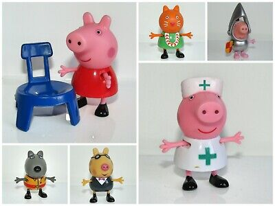 Peppa Pig   Character Toy Figures        Daddy  Mummy School Children • 3.95£