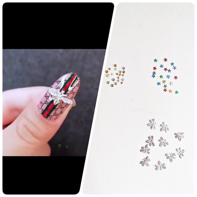 £1.99 • Buy Nail Art Accessories Gems Silver Bees Flowers Diamante Beads Deco Craft UK