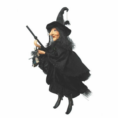 Witches Of Pendle - Alice Nutter Witch Flying (Black) 50cm Wicca Pagan Ornament • 49.95£