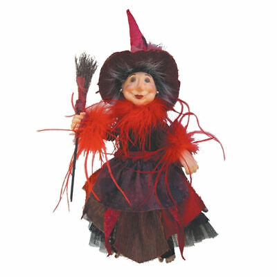 Witches Of Pendle - Alizon Device Witch Hanging Or Sitting (Burgundy) 35cm Gift • 39.95£