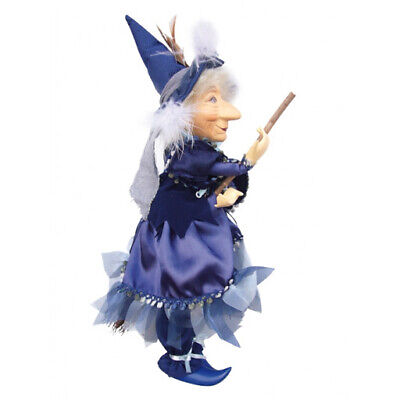 Witches Of Pendle - Phoebe Witch Flying (Blue) 30cm Ornament Gift Halloween  • 24.95£