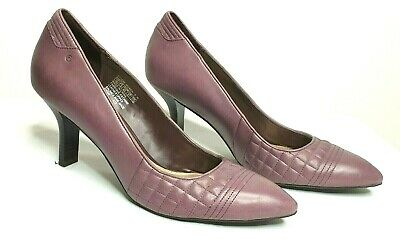 Rockport Lilac Purple Leather High Heels Pumps  Size 10 • 24.10£