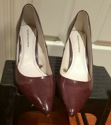 AU15 • Buy Women's Zara Basic Red Patent Heels Shoes, GREAT CONDITION Size 40 Or 9