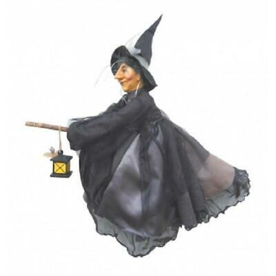Witches Of Pendle - Agatha Witch Flying (Grey) 50cm Collectible Ornament Doll • 34.95£