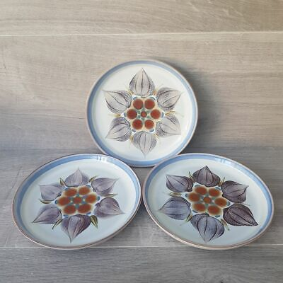 Denby Pottery - Langley Chatsworth - Blue & White Side Plates X 3 • 9.99£