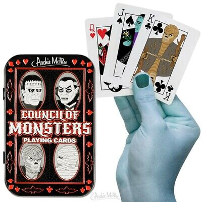 £9.40 • Buy Council Of Monsters Universal Playing Cards Deck - Collectible Tin And Cards -