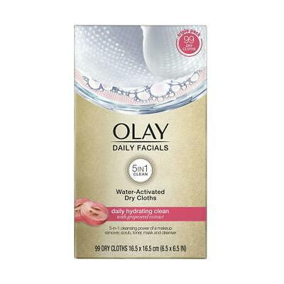 AU31.54 • Buy Olay Daily Facials Water-Activated Dry Cloths, 99 Ct.