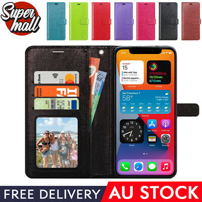 AU7.99 • Buy NEW For IPhone X XR XS MAX Card Holder Leather Wallet Flip Case Phone Cover OZ
