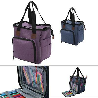 Knitting Storage Bag Case Wool Crochet Hooks Thread Sewing Kits Organizer Bag • 14.29£