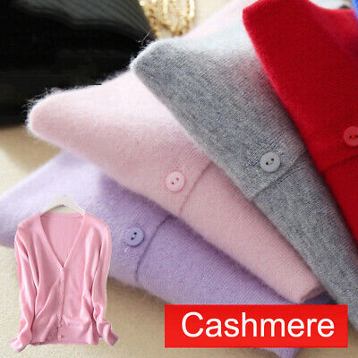 £17.63 • Buy Womens Ladies Slim Elastic Knitted V-Neck Cashmere Wool Jumper Sweater Cardigan