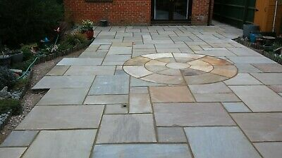 Raj Green Indian Sandstone Paving Circle 2.4 M 22mm Thick • 219.99£