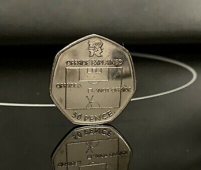 2011 Olympic 50p Coin *Football Offside Rules VGC • 25£