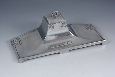 $ CDN170.99 • Buy WMF Art Nouveau Jugendstil Secession Pewter Inkwell With Glass German C1905