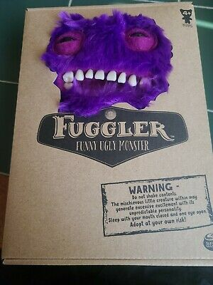 $ CDN33.39 • Buy Spin Master Fuggler Funny Ugly Monster Plush 9  Purple Mr Buttons Furry Teeth