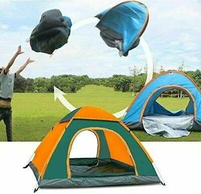 AU39.99 • Buy 3-4 Man Person Family Pop Up Tent Camping Festival Waterproof Auto Sun Shelter A