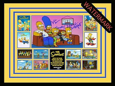 AU94.99 • Buy The Simpsons - Bart - Homer - Marge -limited Edition Signed & Framed Memorabilia
