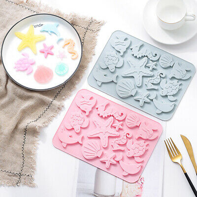 £3.25 • Buy Sea Shell Star Fish Silicone Cake Chocolate Baking Mold Ice Cube Tray Mould Tool