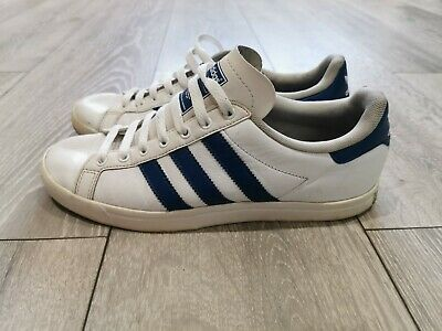 Men's Adidas White And Navy Court Star Trainers Size UK 7 • 14£
