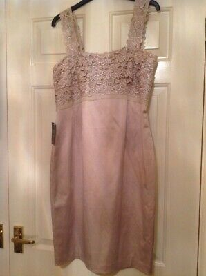£20 • Buy Kaliko Champagne Gold Lace Top Dress Wedding Races UK 12 New With Tags