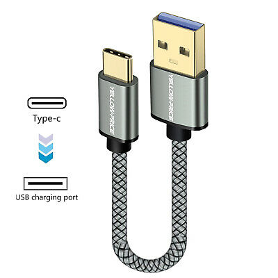 AU11.99 • Buy 15cm 1m 2m Braided Type C To USB Type A 3.1 Short 3A USB-C Male Data Cable S8 S9